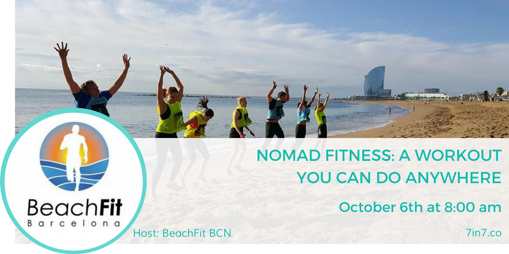 Beach Fitness Workshop at 7in7 Digital Nomad Conference
